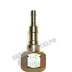 Фитинг на вентиль газового баллона с фильтром и защитой от пламени, 6 и 9 мм, Россия.
