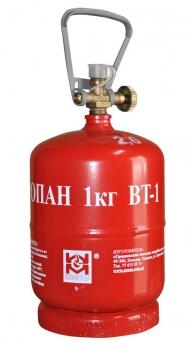 БАЛЛОН LPG металлический BT-1 (2,4 Л) с БЕЗОПАСНЫМ КЛАПАНОМ