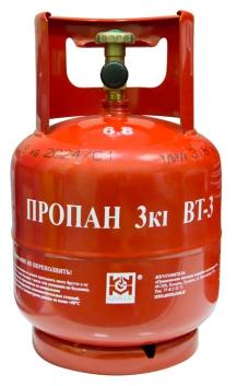 БАЛЛОН LPG металлический BT-3 (7,2 Л) с БЕЗОПАСНЫМ КЛАПАНОМ